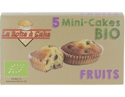 5 mini cakes aux fruits BIO Bio Cake - 175 g
