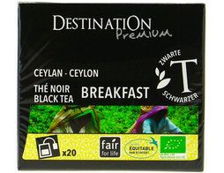 Thé noir breakfast Ceylan BIO Destination the - 20 sachets