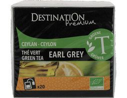 Thé vert earl grey BIO Destination the - 20 sachets