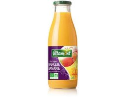 Cocktail de jus de mangue et banane BIO Vitamont - 75 cl