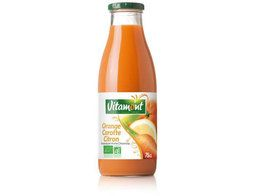 Jus d'orange, carotte et citron BIO Vitamont - 75 cl