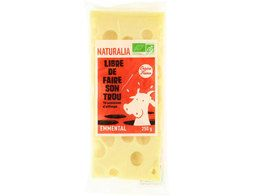 Portion d'emmental BIO Naturalia - 250 g