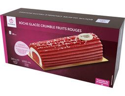 Bûche glacée fruits rouges - 565,9 g
