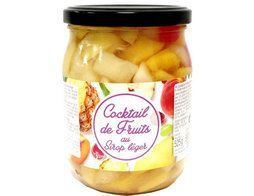 Cocktail de fruits au sirop léger - 330 g