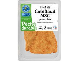 2 filets de cabillaud panure BIO L'Assiette Bleue - 200 g