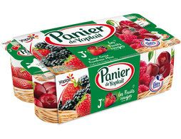 Yaourts Panier de Yoplait fruits rouges - 8 x 130 g