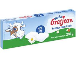 Vache Grosjean fromage blanc fondu 12 portions - 240 g