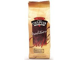 Café en grains tradition robusta Chapuis