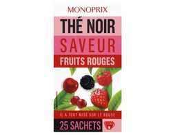 Thé noir fruits rouges Monoprix - 40 g