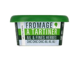 Fromage à tartiner ail et fines herbes Monoprix - 125 g