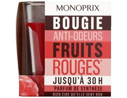 Bougie anti-odeur senteur fruits rouges Monoprix