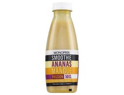 Smoothie ananas mangue passion frais Monoprix - 50 cl