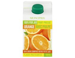 Jus d'orange frais Monoprix - 50 cl