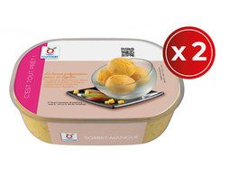 Lot de 2 bacs de sorbet mangue - 2 x 505 g