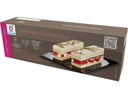 Fraisiers individuels - 4 x 80 g