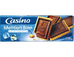 Biscuits au chocolat au lait, Mention Bien Casino - 150 g