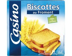 36 biscottes au froment Casino - 300 g