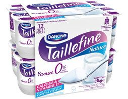 Taillefine nature 0 % Danone - 12 x 125 g