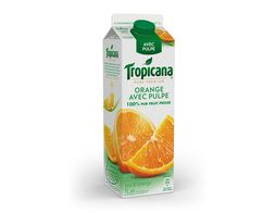Jus d'orange avec pulpe 100% pur fruit pressé Tropicana - 1 l