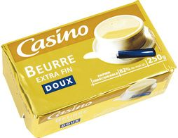 Beurre extra fin doux Casino - 250 g