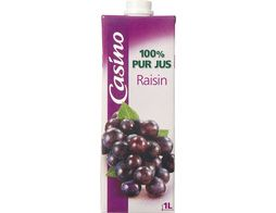 Jus de raisin 100% pur jus Casino - 1 l