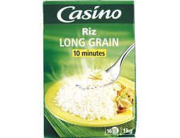 Riz long grain étuvé Casino - 1 kg