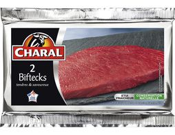 Steaks Charal - 2 x 140 g environ