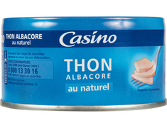 Thon Albacore au naturel Casino - 140 g