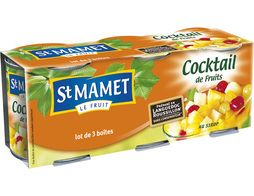 Cocktail de fruits au sirop St Mamet - 3 x 125 g