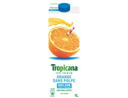 Jus d'orange sans pulpe 100 % pur fruit pressé Tropicana - 1 l