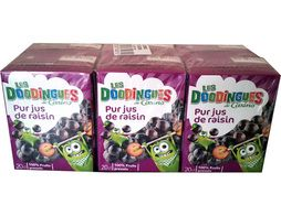 Pur jus de raisin Les Doodingues de Casino - 6 x 20 cl