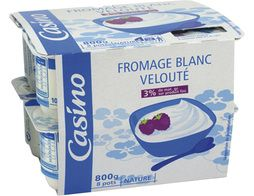 Fromage blanc nature Casino - 8 x 100 g