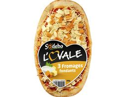 Pizza individuelle Sodebo L'ovale 3 fromages - 200 g