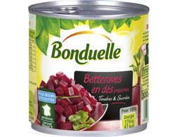 Betteraves rouges tendres en dés Bonduelle - 265 g