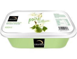 Sorbet plein fruit à la poire Williams Erhard - 293 g